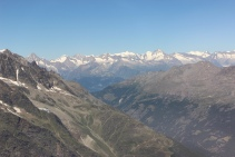 Looking towards the Valais